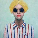 Blonde Girl with Dark Glasses