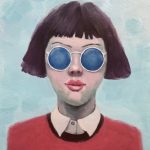 Girl with Blue Sunglasses No 3
