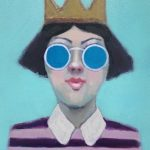 Girl with Crown and Sunglasses No 2