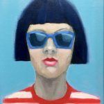 Girl with Blue Sunglasses