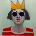 Girl with Crown and Sunglasses