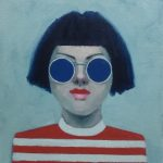 Girl with Blue Sunglasses No. 2
