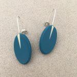 Oval Line Drop Earrings