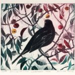 Blackbird in the Crabapple Tree