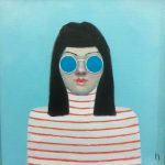 Girl With Blue Glasses