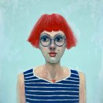 Girl with Red Hair and Marilyn Spot